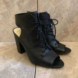 Jessica Simpson Peep Toe with Lace Up Size 9